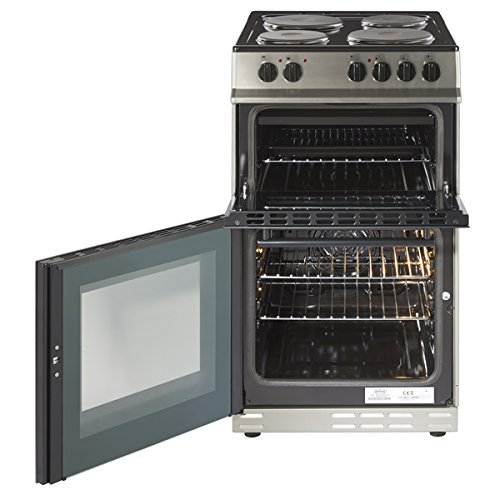 Belling FS50EFDO 50cm A Rated 4 Burners Double Oven Electric Cooker in Stainless Steel