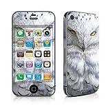 Apple iPhone 4用スキンシール【Snowy Owl】貼り付け簡単補助シール付