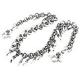 "DoubleK Claw Symbol Key Jean Wallet Chain CS79 (28"" * 8.5oz) Silver"
