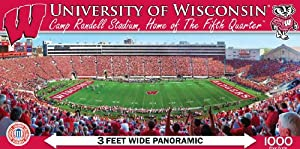Buy MasterPieces NCAA Wisconsin Badgers Stadium Panoramic Jigsaw Puzzle, 1000-Piece by MasterPieces