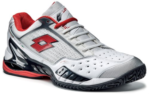 Lotto Sport Raptor Ultra III Clay, Men, white 05/risk red