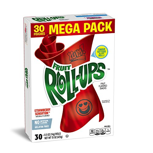 Fruit Roll-Ups Fruit Flavored Snacks, Strawberry Sensation, 0.5 Ounce (30 Count Rolls) (Fruit And Plenty compare prices)