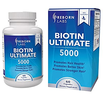 Biotin for Hair Growth Supplement | Highest Absorbing & Most Effective Biotin 5000 mcg | With D-Biotin for Maximum Absorption | For Healthier Hair, Skin, & Nails