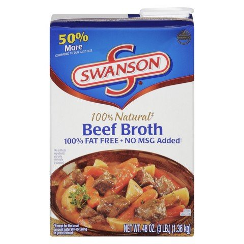 Swanson Beef Broth 48 oz (Minerva Sea Salt compare prices)