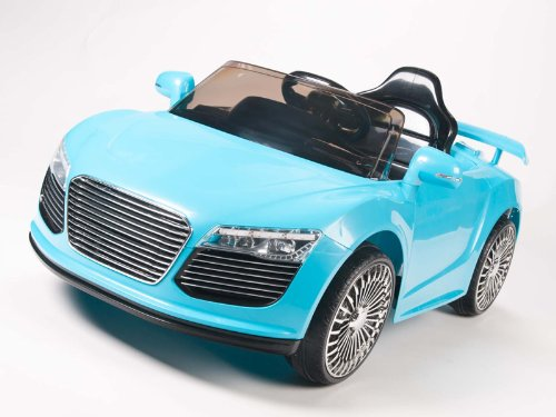 12V Audi R8 Style Ride On Car With Remote & Mp3 Connection - Blue
