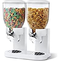 Fresh & Easy Classic Dry Food Cereal Double Dispenser (Black or White)