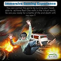 Motoraux 3D Glasses Vr Virtual Reality Headset Lens and Strap Adjustable for Android Smartphone Series within 4.0-5.5 Inches from Motoraux