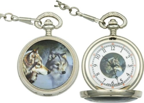 Infinity Wolf Pocket Watch P-256