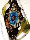 Shockwize (Tm) Imago Series Samsung Galaxy Proclaim S720C & Samsung Illusion i110 Design Art Artwork Skin Shell Protector Case Shock Absorbing Rigid Hybrid (Straight Talk, Verizon) S720C i110 (Design Floral Black / Green Daisy)