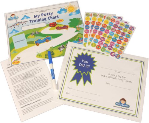 Potty Training Chart & Stickers by Potty Scotty (For Boys)