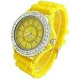 WLM New Classic Gel Silicone Crystal Men Lady Jelly Watch Gifts Stylish Fashion Luxury