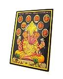 Lord Ganesha / God Ganesh / Ganpati with Ashtavinayak Swaroop (8 Ganesha Swaroop) Poster with Frame (Size: 5x7 inch)