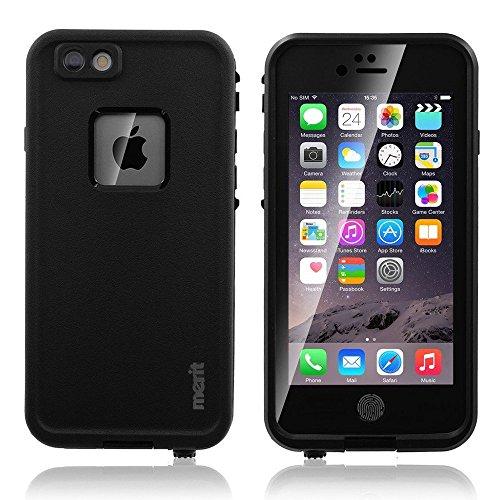 Merit iPhone 6対応 防水ケース フルプロテクションカバー 防塵 防埃 耐衝撃 ブラック