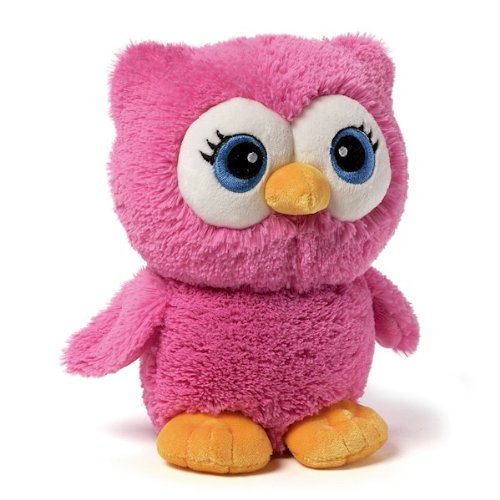 Gund Bright Eyes Pink Owl Plush front-792596