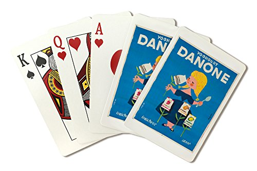 danone-vintage-poster-artist-gauthier-france-c-1955-playing-card-deck-52-card-poker-size-with-jokers