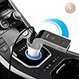 CARG7 Bluetooth Car Kit FM Transmitter MP3 Music Player SD USB Charger For IPhone Samsung Table PC - Silver