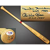 Pee Wee Reese and Duke Snider Autographed Hand Signed 1955 Brooklyn Dodgers Baseball Bat... by Real Deal Memorabilia