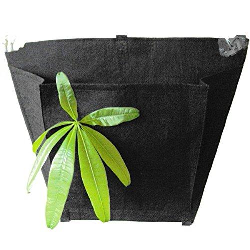Sunday&May Black Nonwovens Three-dimensional Gardening Wall Hanging Planter Bags Black