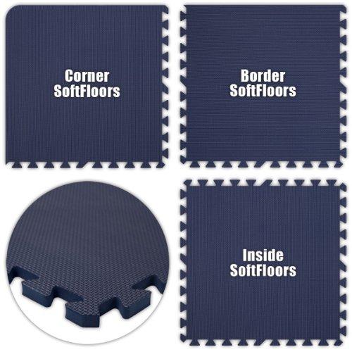 Alessco SFNB3044 SoftFloors -Navy Blue -30 x 44 Set