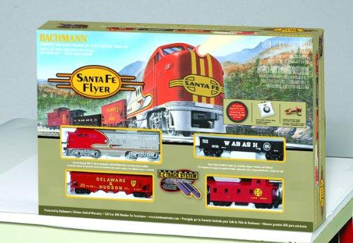 Imagen de Bachmann trenes Santa Fe Flyer Ready-to-Run Escala HO Juego de tren