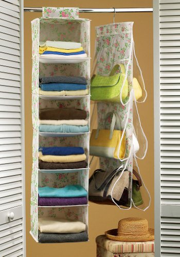 2 Piece Sweater And Purse Closet Organizer Set by Collections Etc
