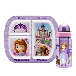 Zak Designs 2-Piece Sofia The First Healthy Eating Serveware Set