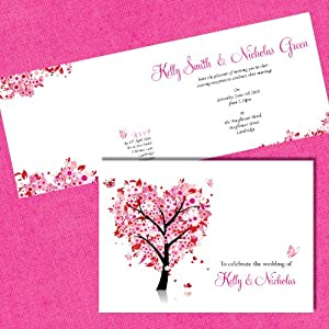 Personalised Wedding Invitations Incl Envelopes on Luxury Pearl x 10