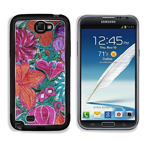 MSD Premium Samsung Galaxy Note 2 Aluminum Backplate Bumper Snap Case IMAGE ID 26628263 Part of a vibrant colorful mexican embroidery