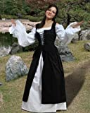 Medieval Renaissance Pirate Ameline  Dress Gown [Black]
