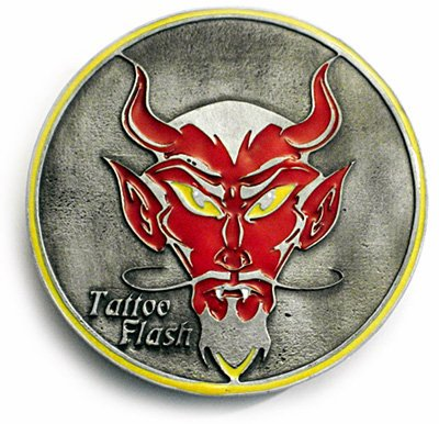 Buy TATTOO FLASH DEVIL Belt Buckle and Hidden Stasher
