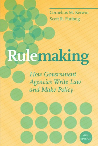 Rulemaking: How Government Agencies Write Law and Make...
