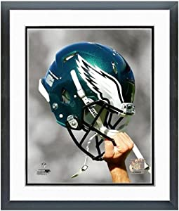 Philadelphia Eagles Helmet Spotlight Photo (Size: 12.5 x 15.5) Framed by NFL