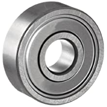 NSK 6200 Series Deep Groove Ball Bearing, Single Row, Double Shielded, Pressed Steel Cage, Normal Clearance, Metric