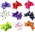 Wholesale Lots Rubber Band Hair Bow Headdress Flower for Puppy Dog Pets Gift