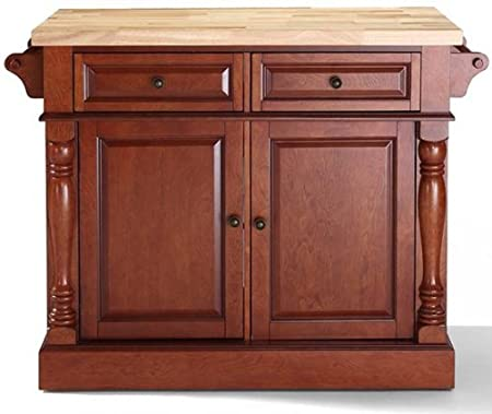 Butcher Block Top Kitchen Island, 36HX48W, CHERRY