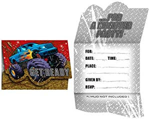Creative Converting Mudslinger Birthday Party Invitations, 8 Count by Creative Converting