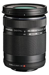 Olympus M.Zuiko 40-150mm f/4.0-5.6 R Micro ED Digital Zoom Lens (Black)