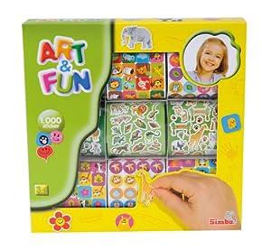 Simba 106304563 - Art and Fun, 1000 Sticker, 2-sortiert
