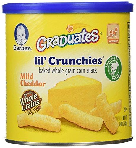 Gerber Graduates Lil' Crunchies, Mild Cheddar, 1.48 oz - 1