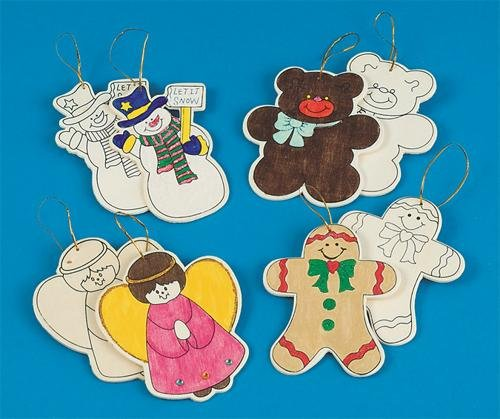 Wooden Christmas Ornaments to Paint at Amazon