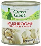 Green Giant Mushrooms Pieces & Stems, 4-Ounce Tins (Pack of 24)