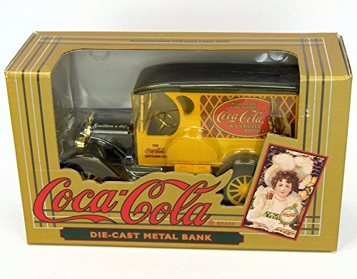 Coca-Cola Vintage Red Bottle Truck Coin Bank - 1