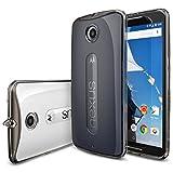 [Free Screen Protector] Nexus 6 Case - Ringke FUSION Nexus 6 Case [Dust Cap/Drop Protection Series][SMOKE BLACK] Shock Absorption Bumper Premium Hard Case for Google Motorola Nexus 6