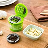Garlic Mincer Garlic Chopper - New Garlic Press Very Sharp Stainless Steel Blades Ginger Garlic Grater Press Grinding Planer Garlic Slicer - Stainless Garlic Press