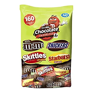 MARS Chocolate and More Favorites Halloween Candy Variety Mix 73-Ounce 160-Piece Bag