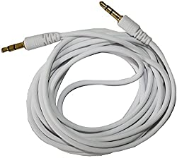 Mak Aux_White Data Cable for Mobile, Tablet, Computer, Mp3 Player (White)