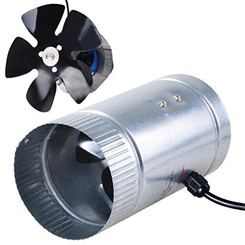 Portable Mini 4 Inches Inline Duct Booster Vent Fan Blower Lightweight Practical w/ 120CFM Airflow Rate & Aluminum Fan Blade for Ventilation Home Grow Room Air Cooling (Portable Exhaust Fan compare prices)