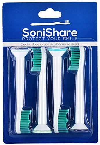 Generic Proresults Replacement Heads for Philips Sonicare Toothbrushes, 4 Pack [4, 8, 12, 20 Packs Available] fit Essence+, Plaque Control, Gum Health, DiamondClean, FlexCare, HealthyWhite (Sonicare Proresults Brush Heads compare prices)