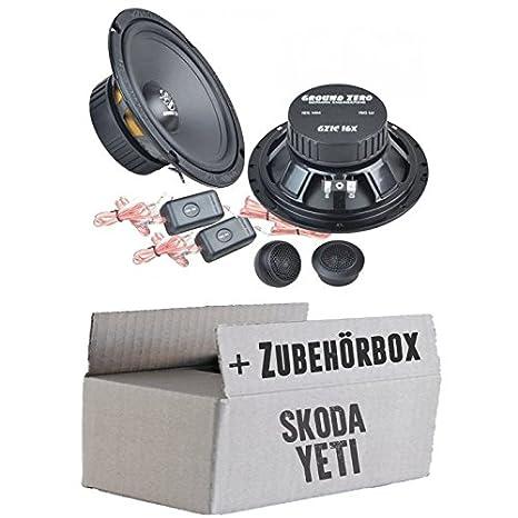 Skoda Yeti arrière-Ground Zero GZIC 16x-16cm-Système de haut-parleur Kit de montage