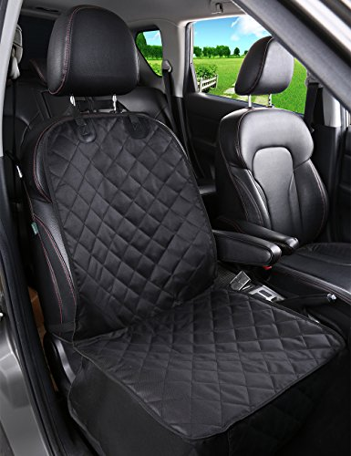 Alfheim Dog Bucket Seat Cover - Nonslip Rubber Backing with Anchors for Secure Fit - Universal Design for All Cars, Trucks & SUVs (Black) (Dog Truck Seat Protector compare prices)